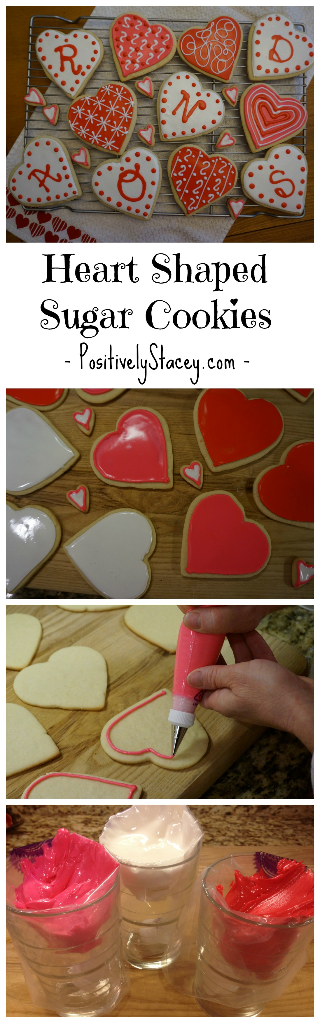 Heart Shaped Sugar Cookies - Perfect for Valentine's Day or for any day that you want to share a bit of sweet love! <3