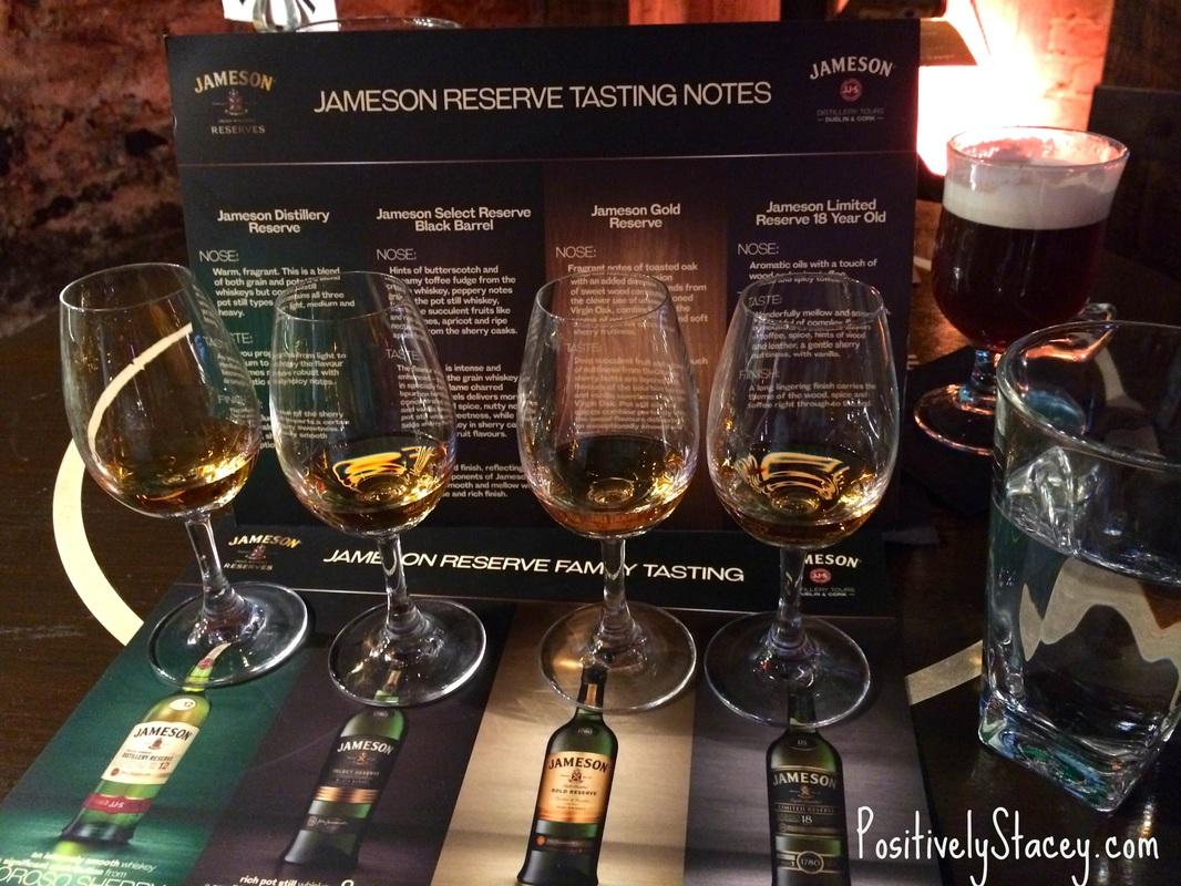 Whisky tasting at Jameson