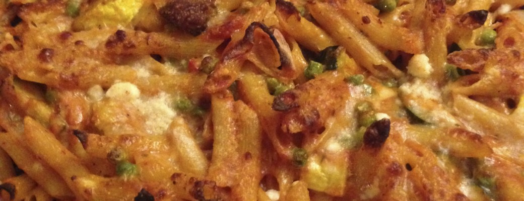 A Tasty Way to Eat Your Veggies ~ Baked Penne with Roasted Vegetables