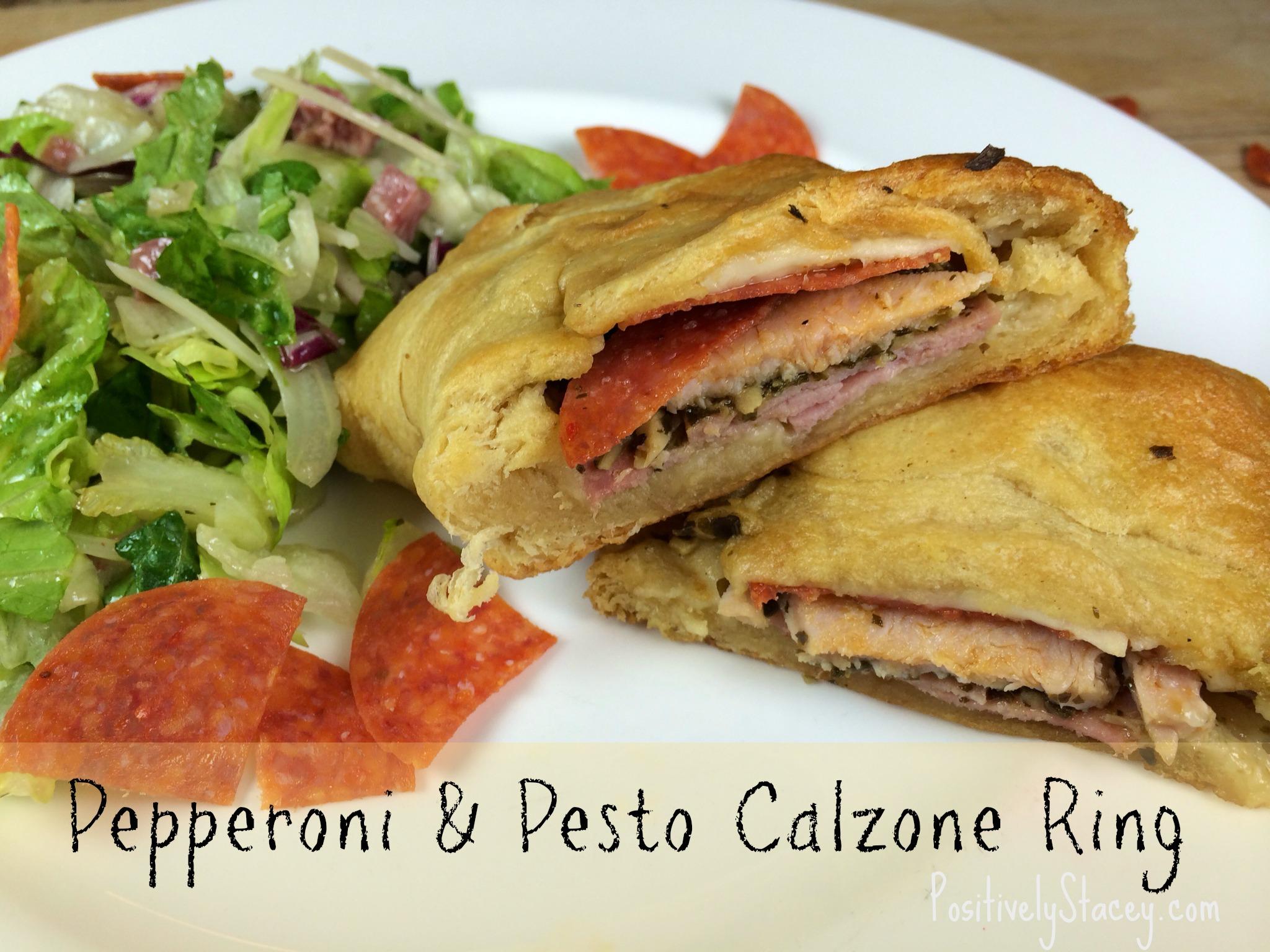 Pepperoni & Pesto Calzone Ring