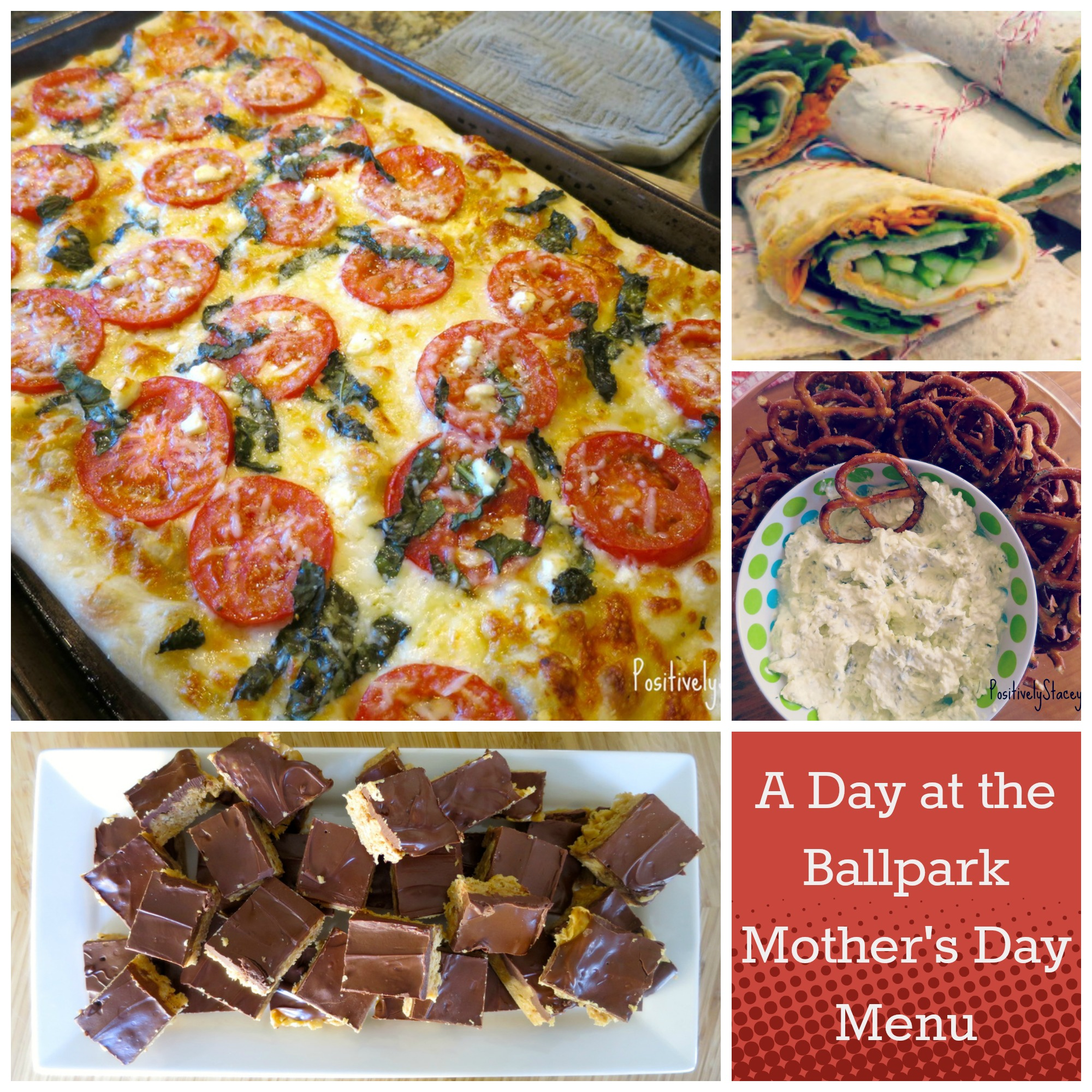Day at the ballpark Mothers day menu