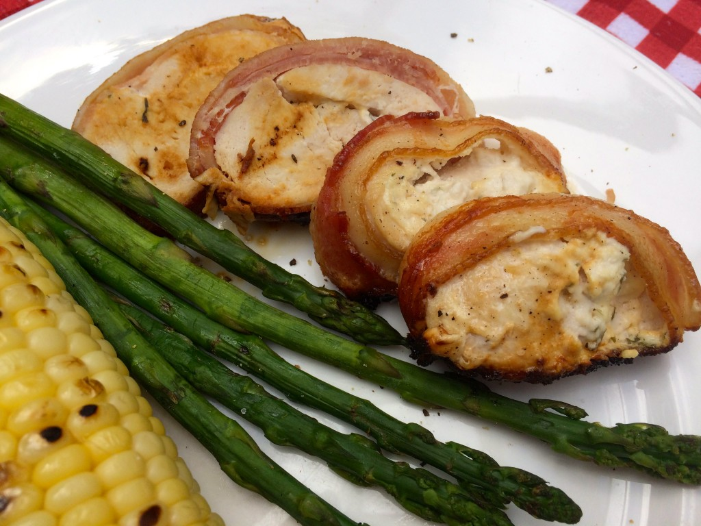 how to cook chicken wrapped in bacon with cheese