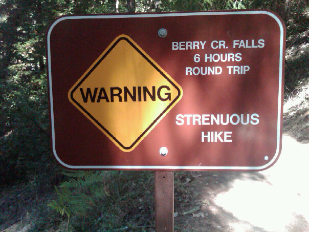 Hike Warning