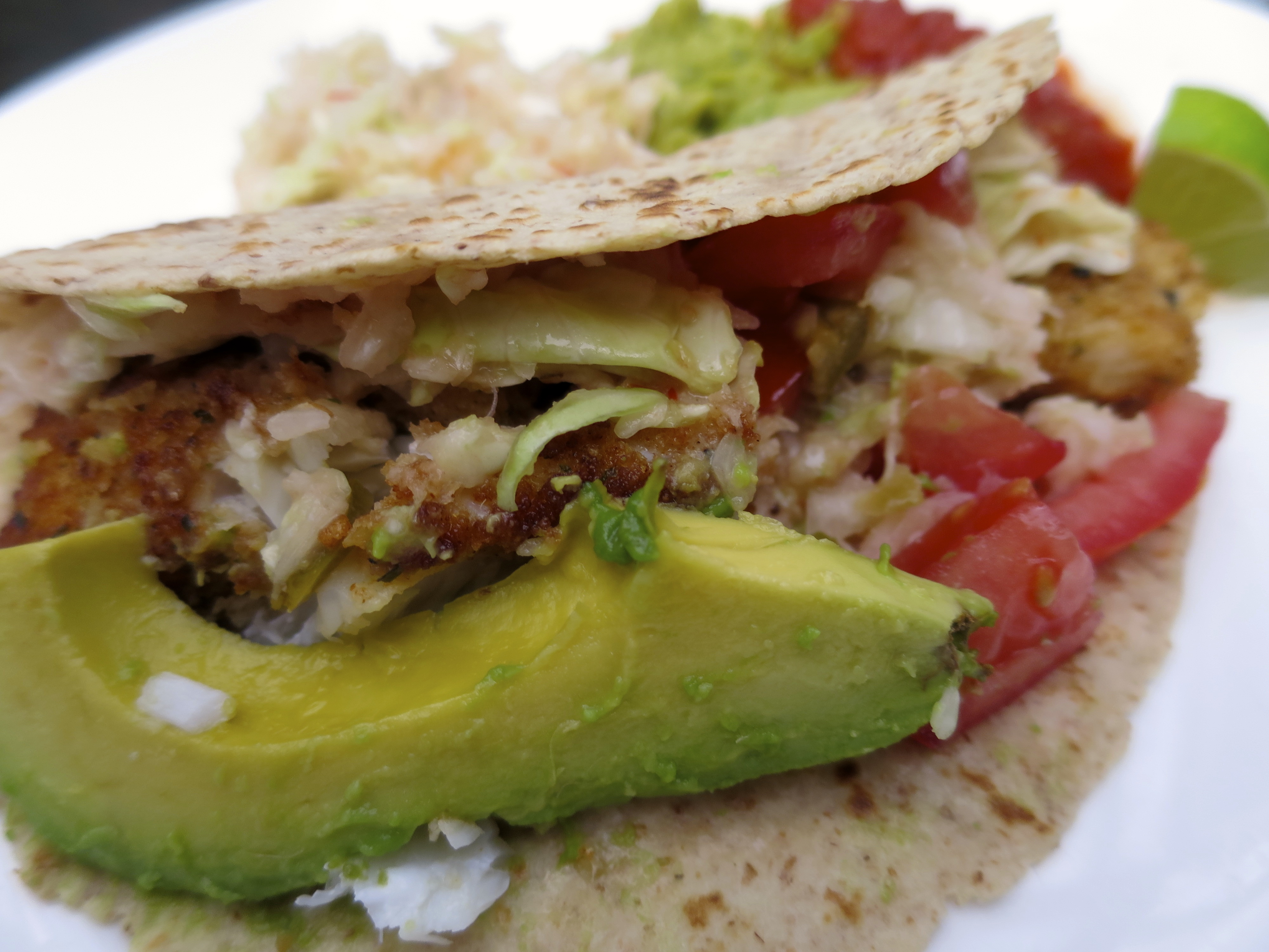 Best ever fish tacos positively stacey for Fish tacos cod