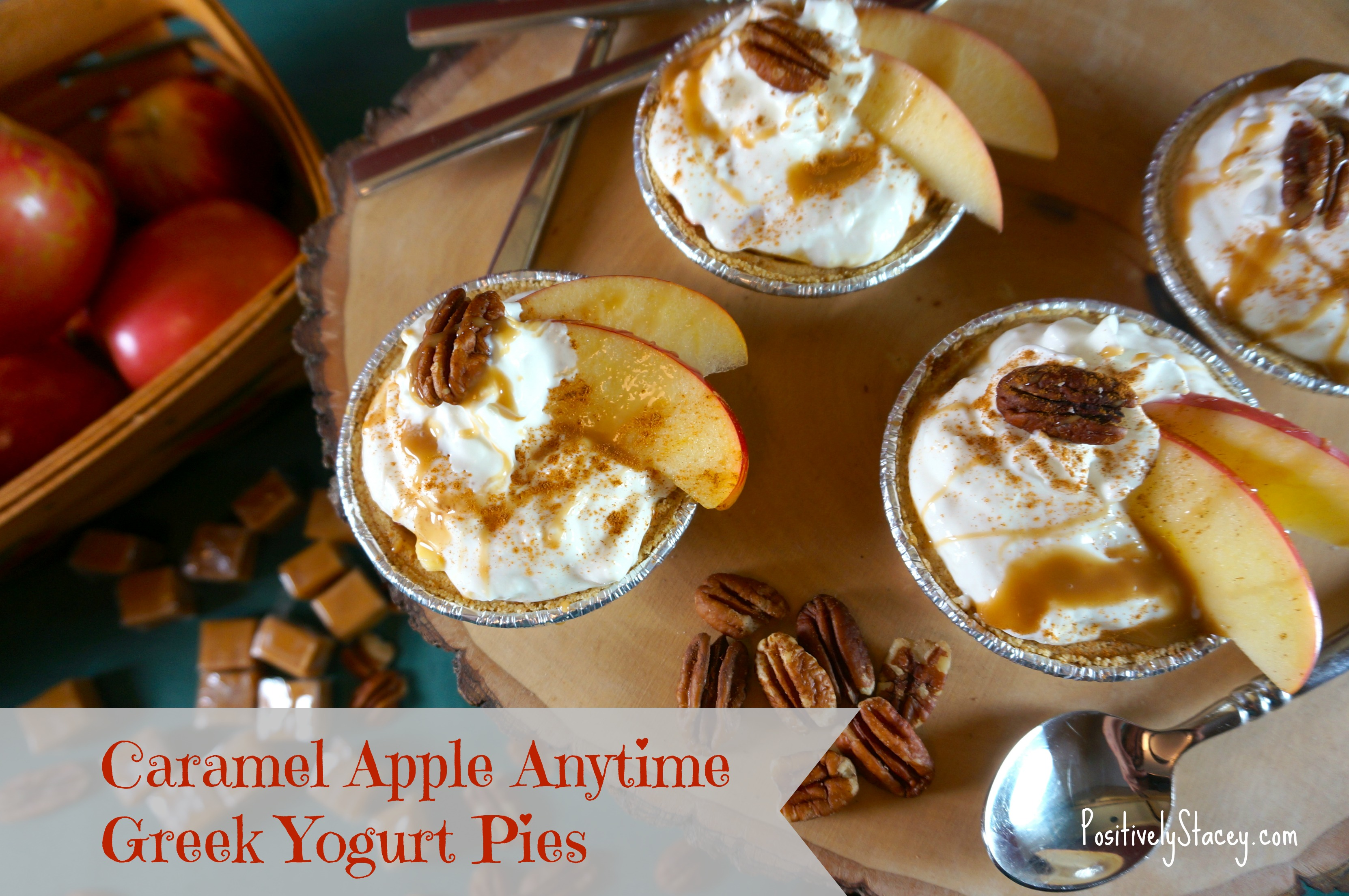 Caramel Apple Anytime Greek Yougurt Pies