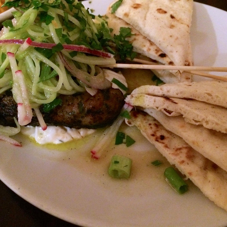 Yiayia's Meatballs, Tzatziki, Lemon, Pita Bread Kefi