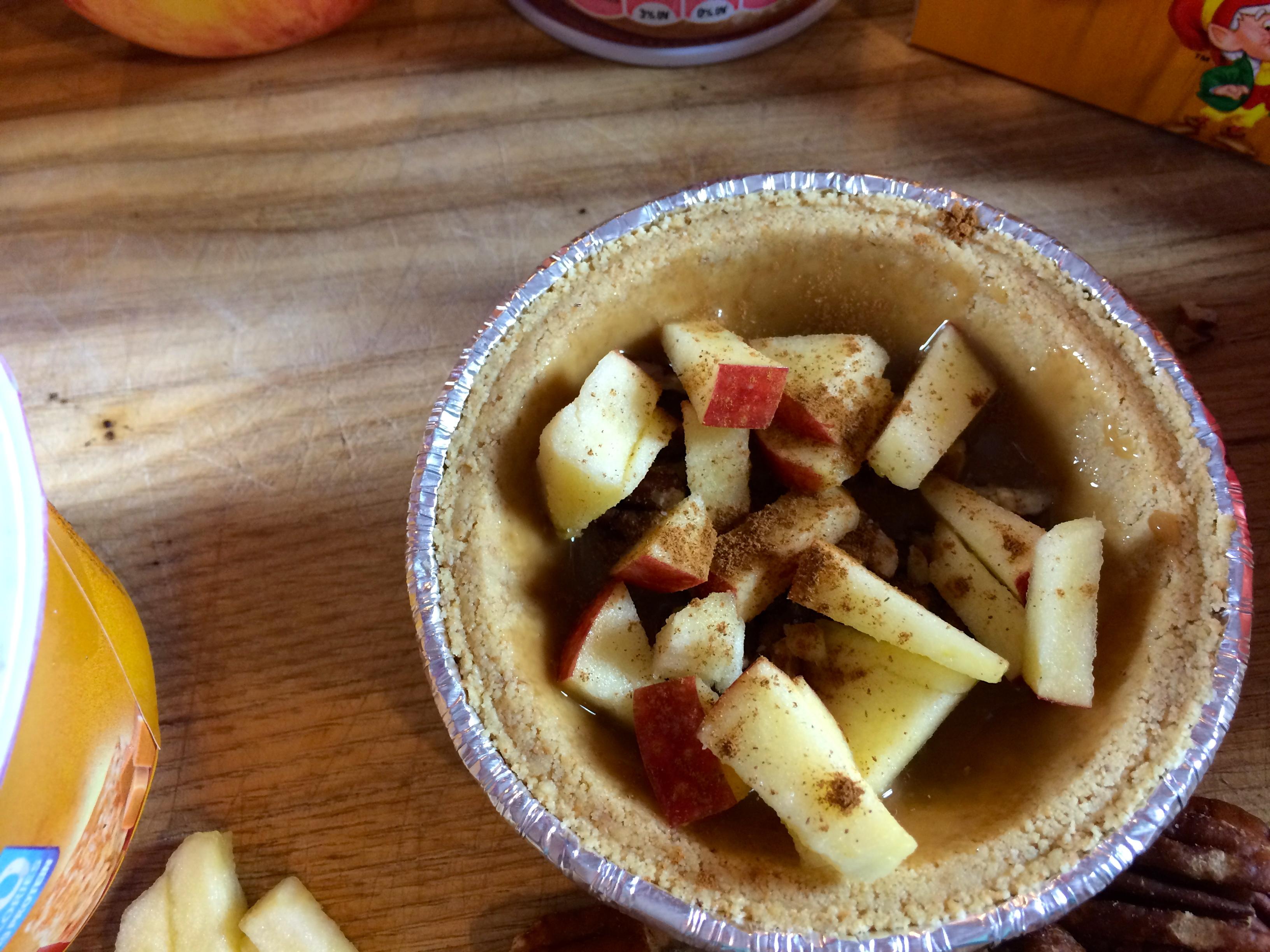 Caramel Apple Anytime Greek Yougurt Pie #EffortlessPies