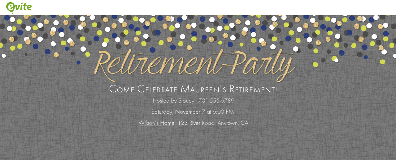 Evite Template For Retirement Party Invitation – orderecigsjuice.info
