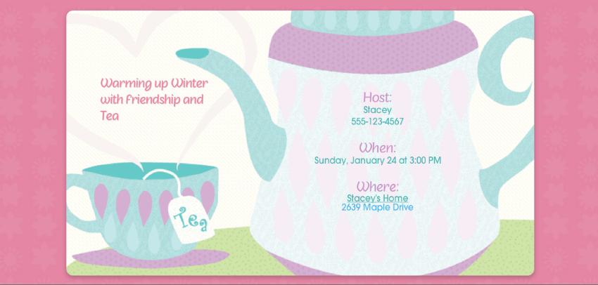 Evite Winter Tea Party