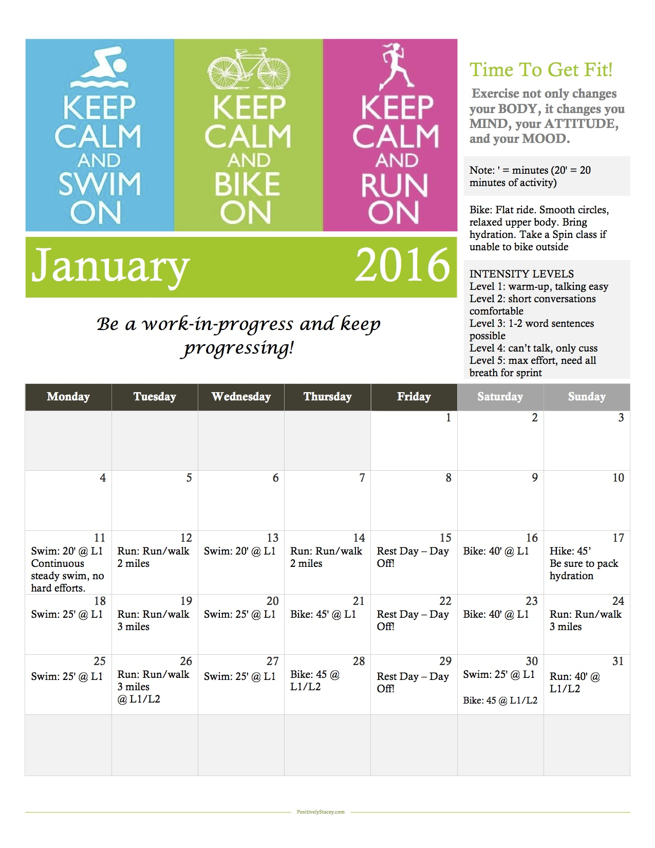 January Workout Calendar copy