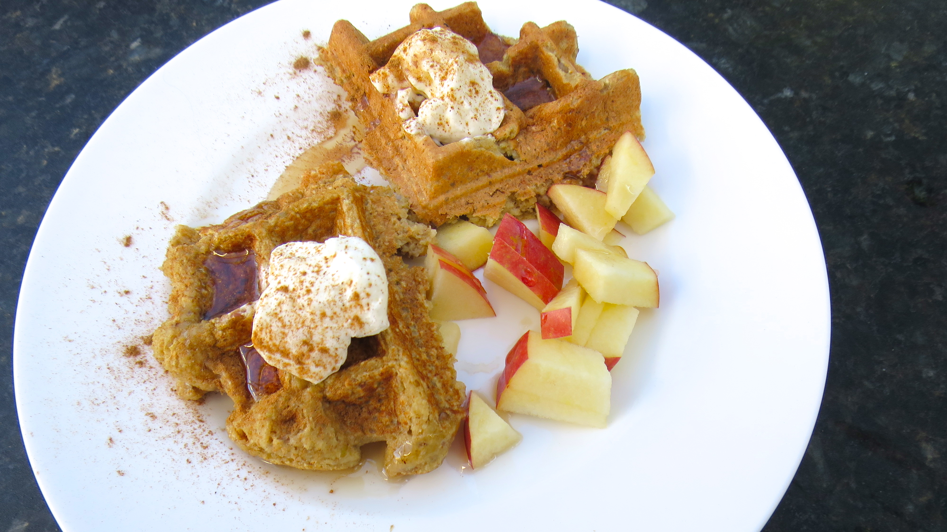 Apple Oat Waffles