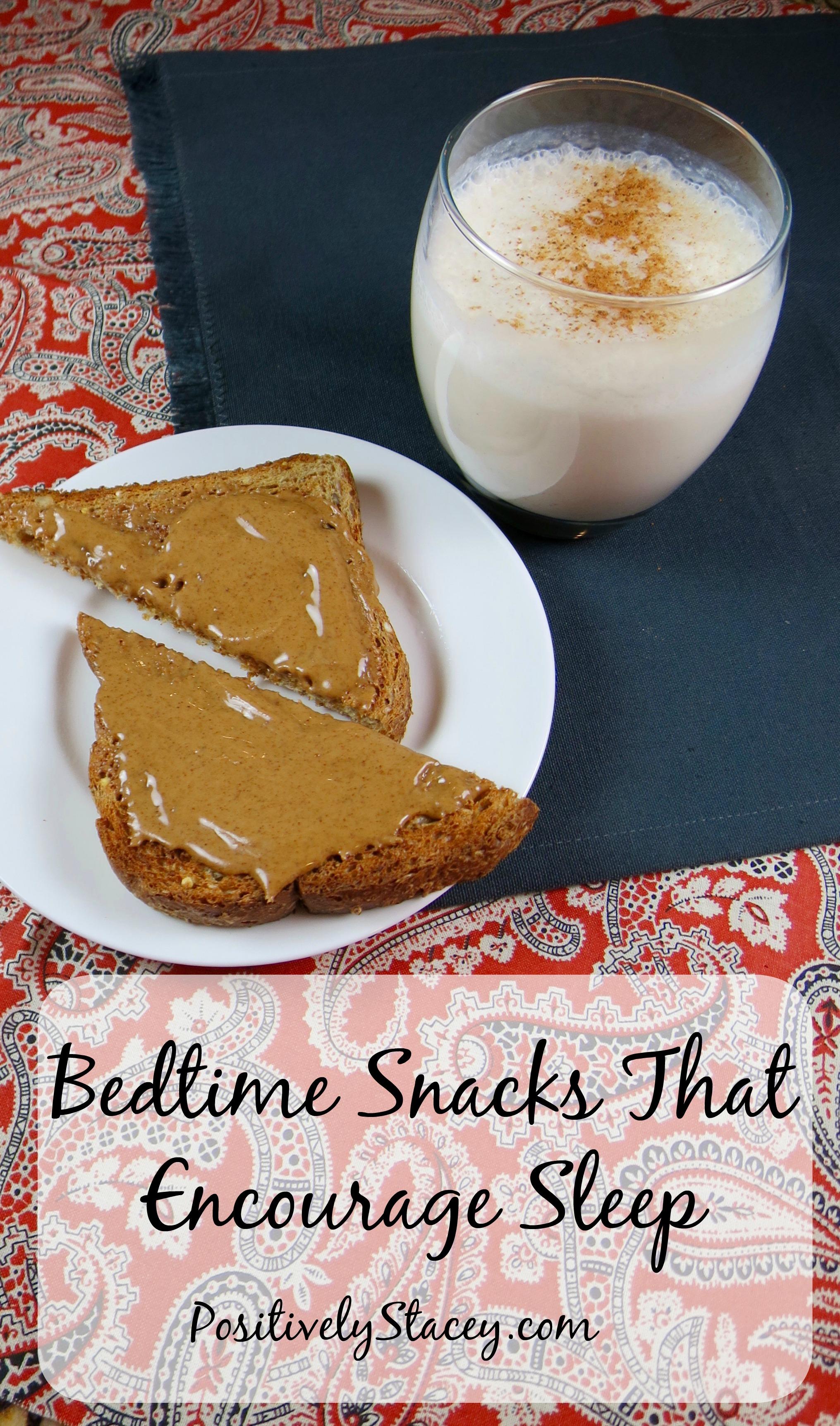 Yummy Bedtime Snacks That Encourage Sleep #FindRestEasy #ad