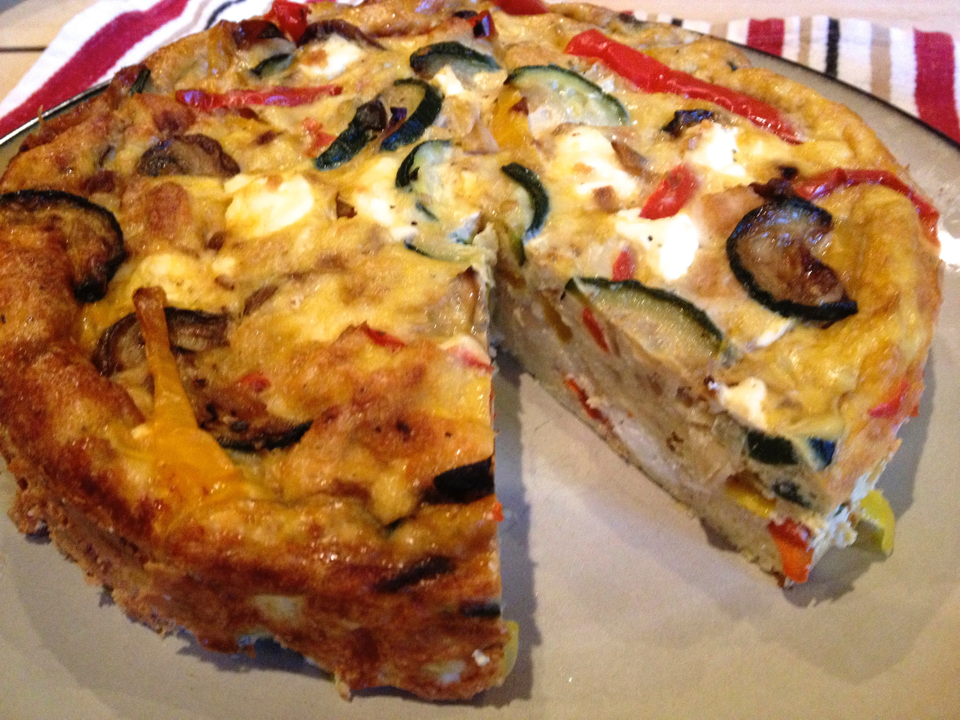 roasted veggie egg ritatta