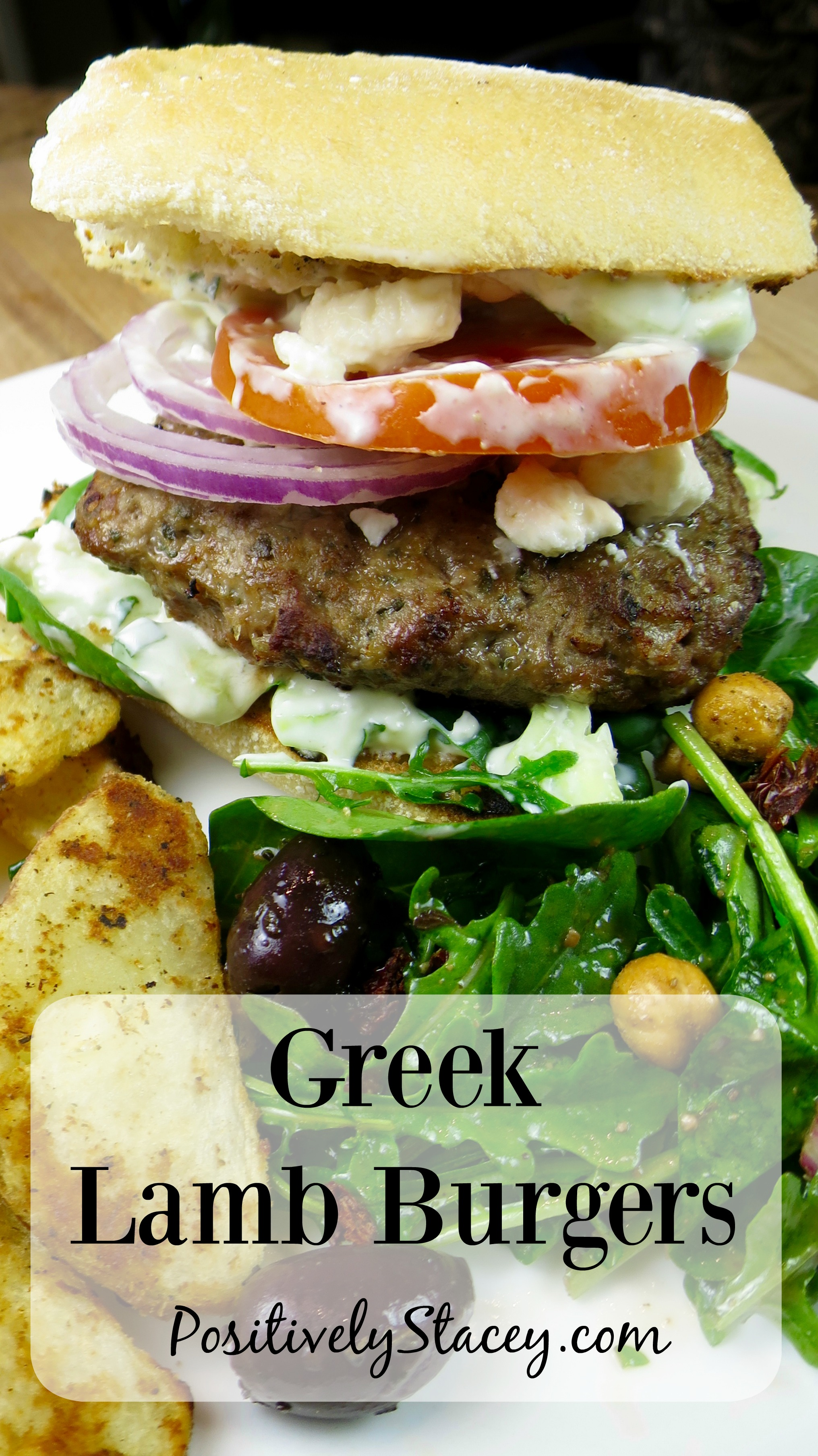 ... loads of Mediterranean goodness. Greek Lamb Burger Recipe - Delicious