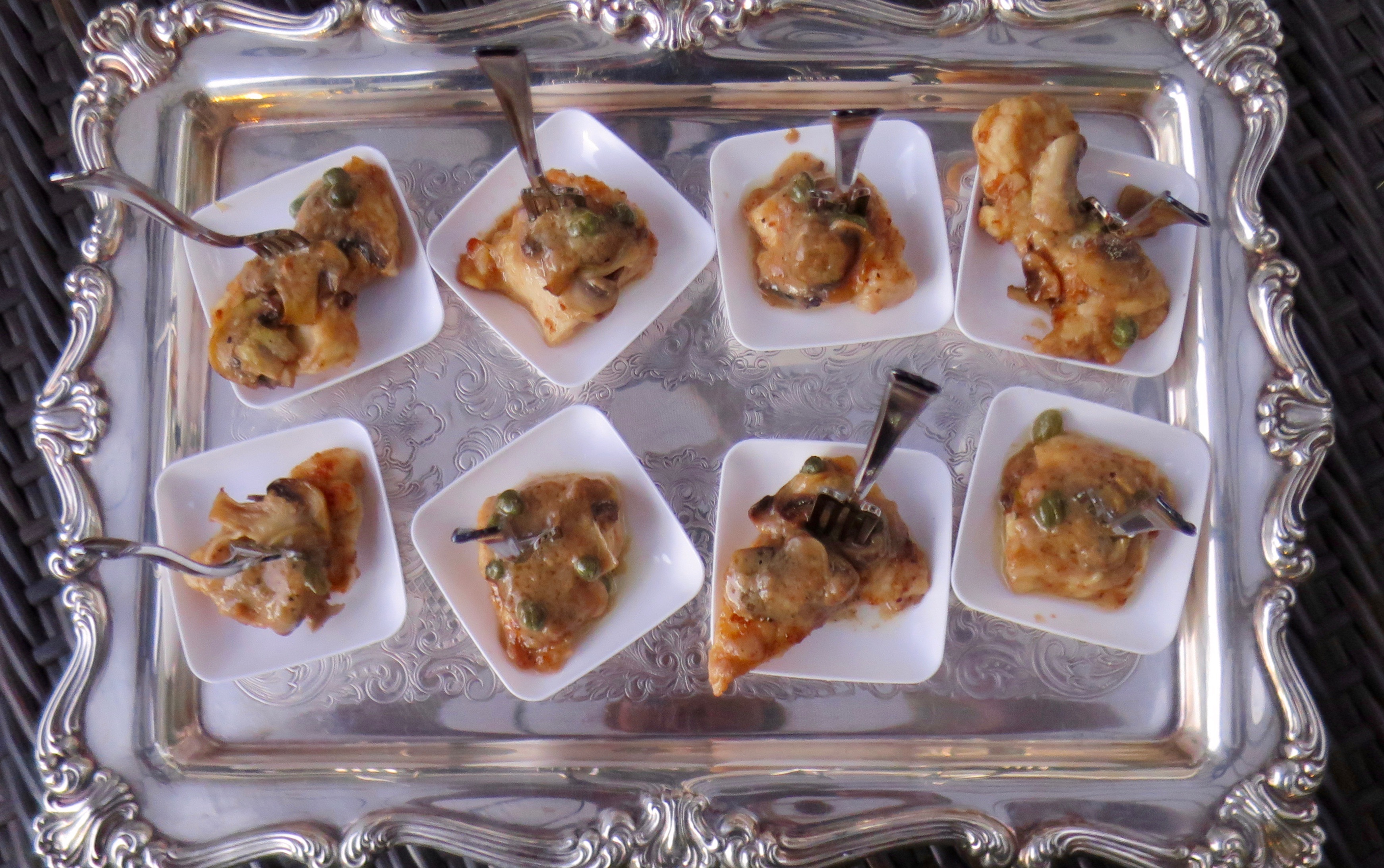 Chicken Scallopini Appetizer Bites
