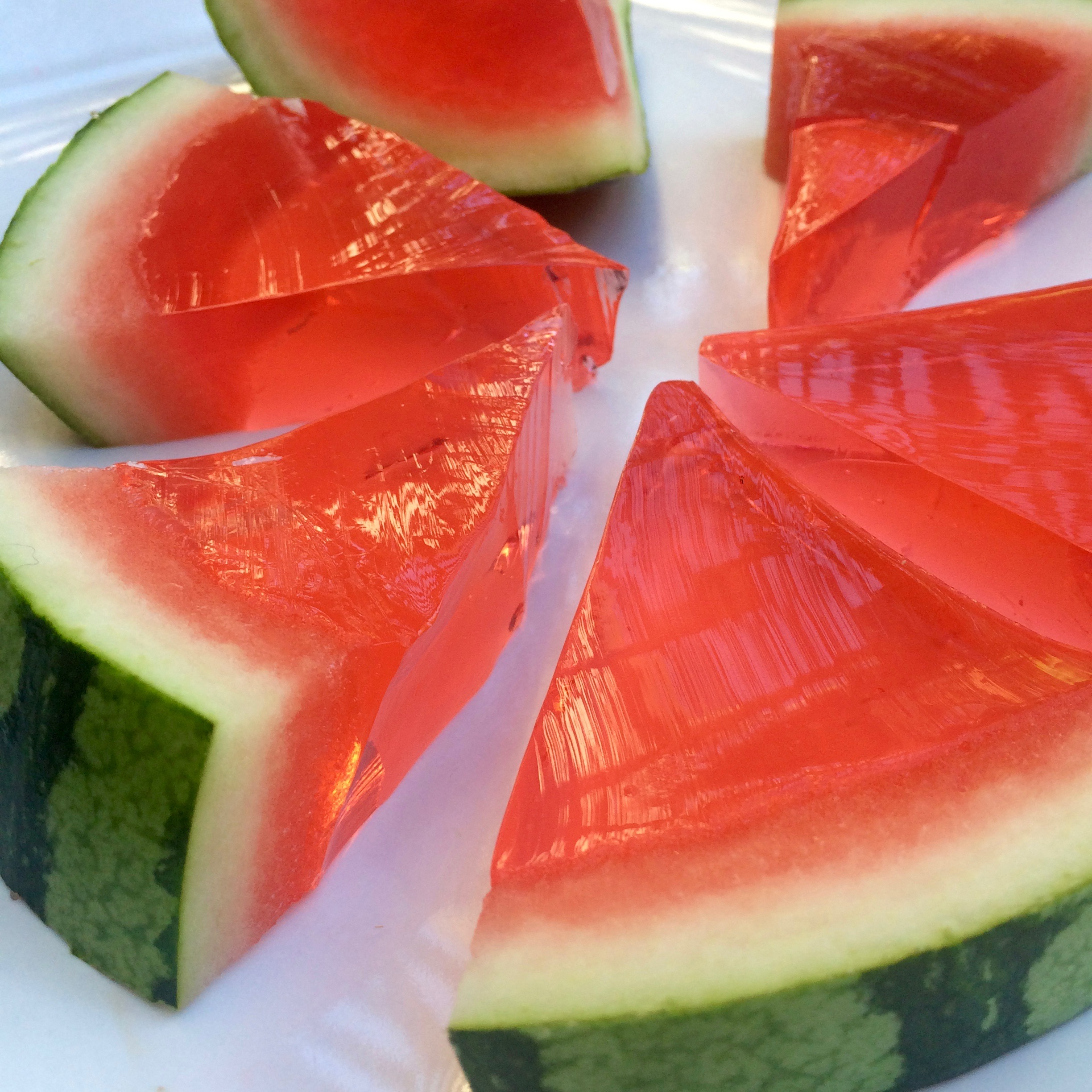 Sliced Watermelon Jello Shots