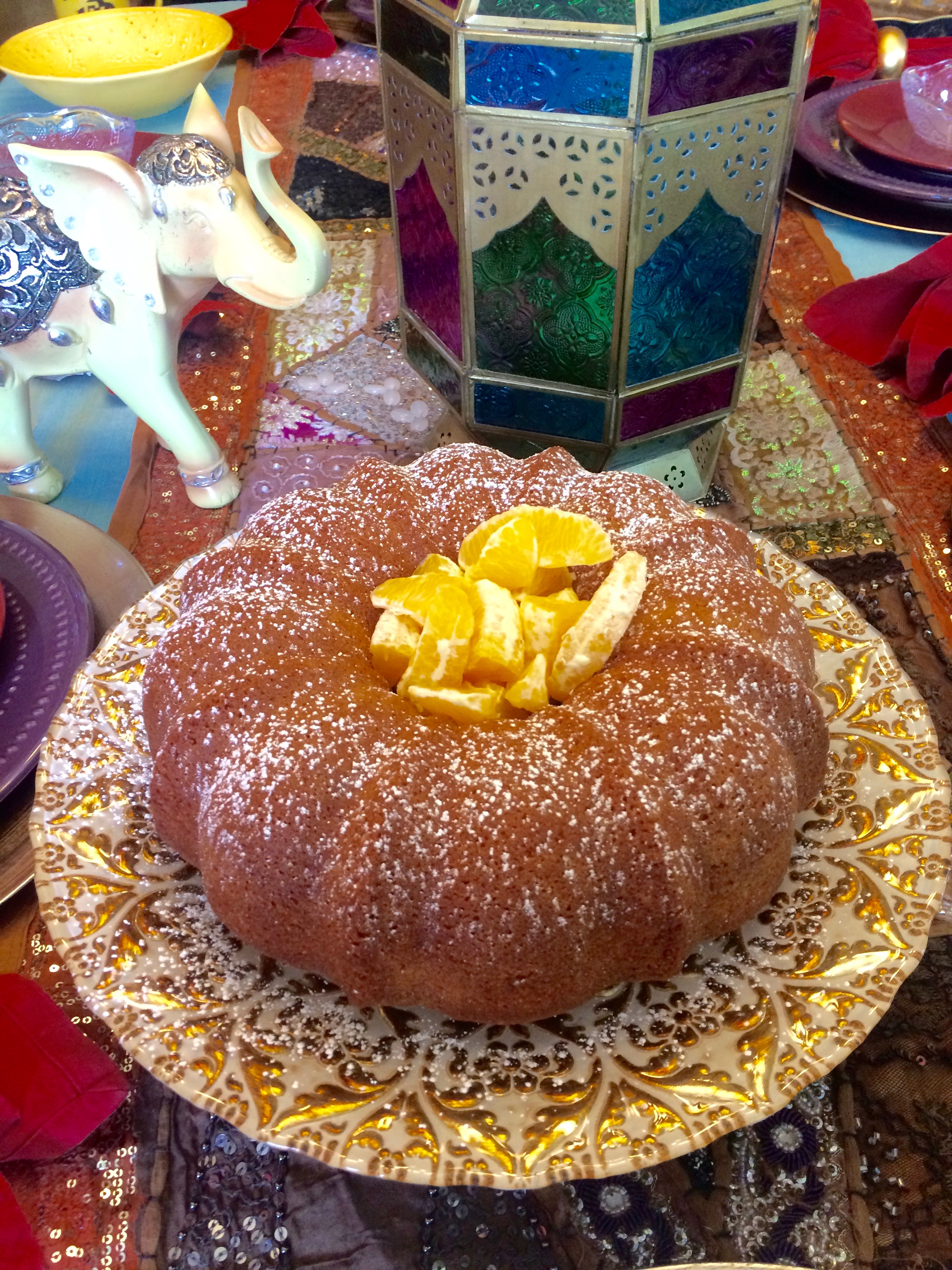 ... Moroccan orange cake with Citrus Salad. It is the perfect complement
