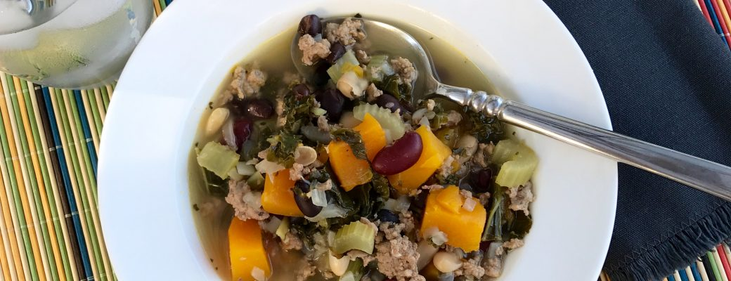 Turkey, Kale, and Butternut Squash Soup Recipe