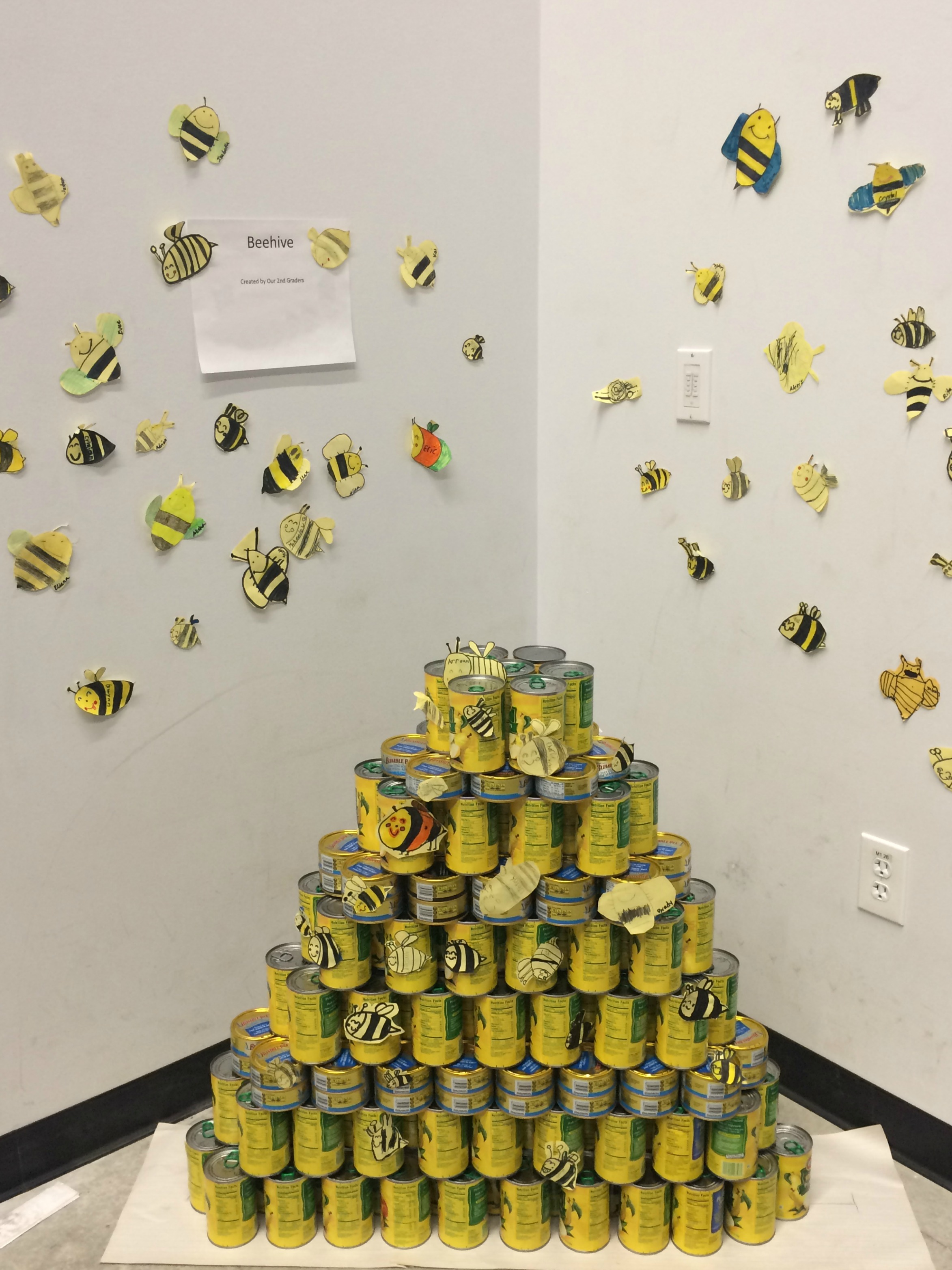 A beehive created by the second grade