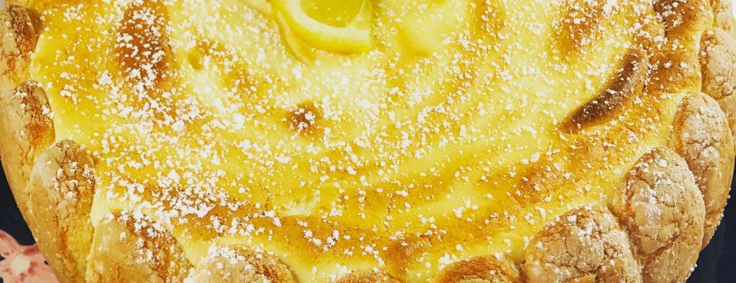 Ladyfinger Lemon Torte Recipe #SundaySupper