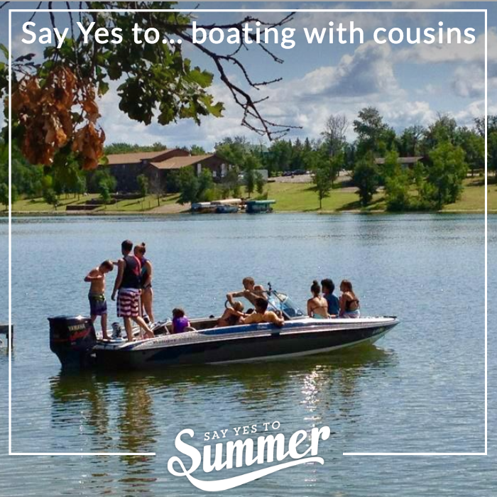 Say yes to boating with cousins
