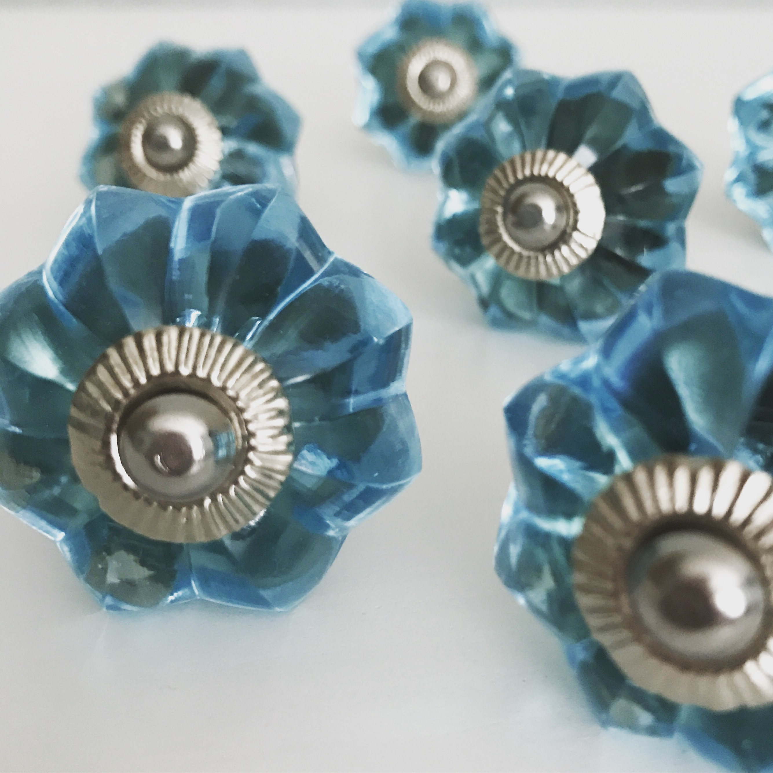 Blue Glass Dress Knobs