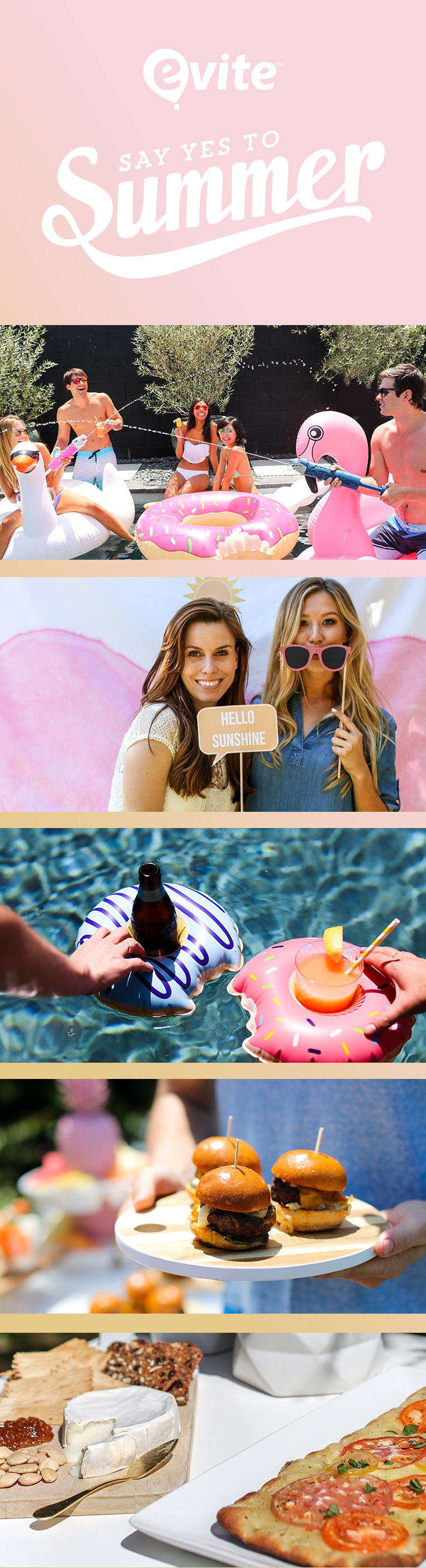 If you haven't already, it is time to get out the calendar and plan some fun activities to maximize your summer time. Here are 5 ways to say yes to summer! #BeThere #Evite #AD