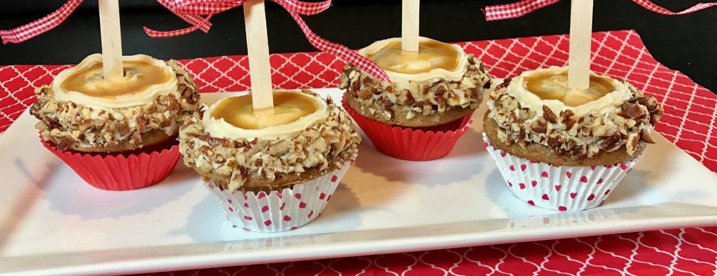 Caramel Apple Stuffed Cupcakes