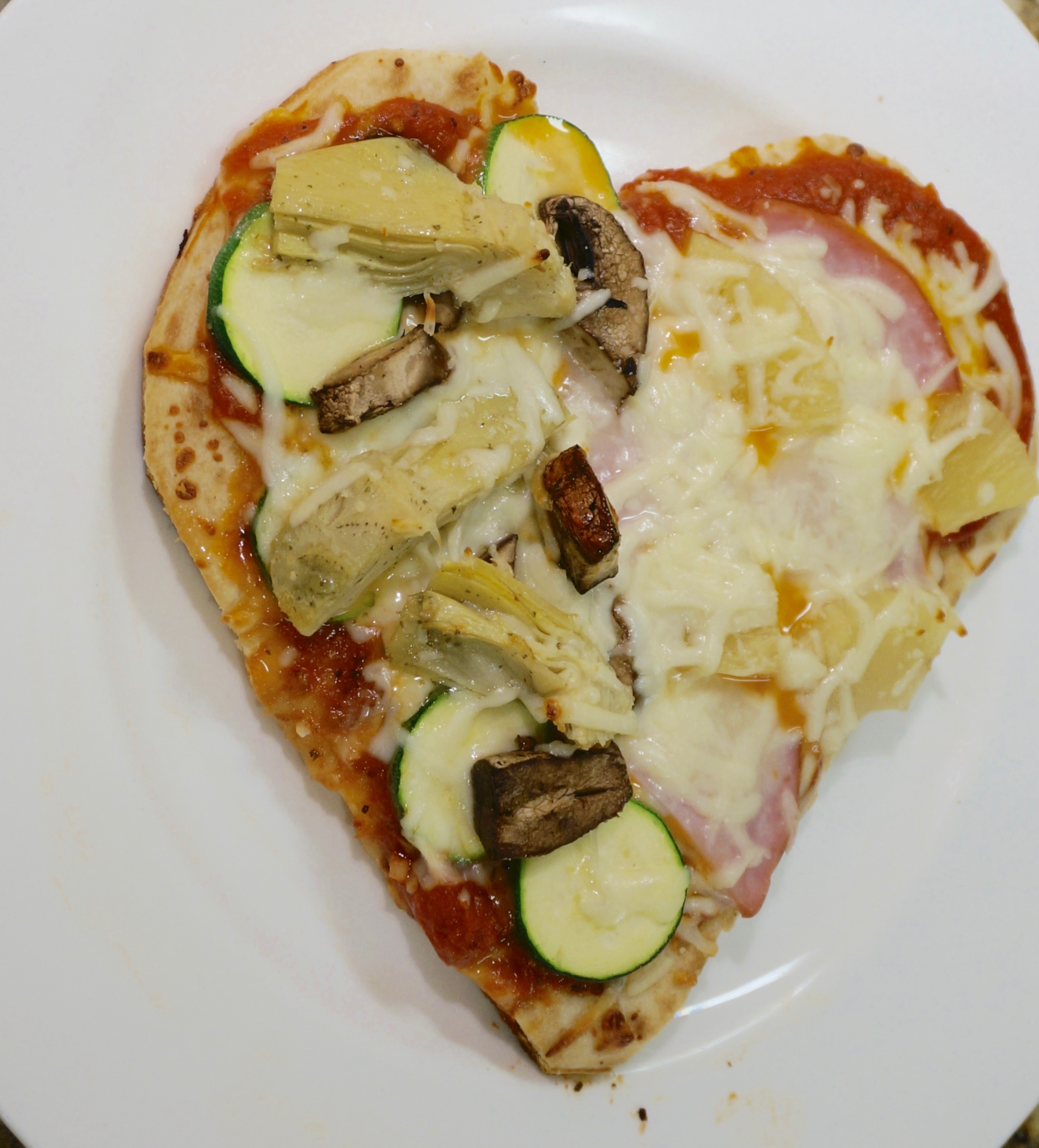 Easy Heart Shaped Pizzas