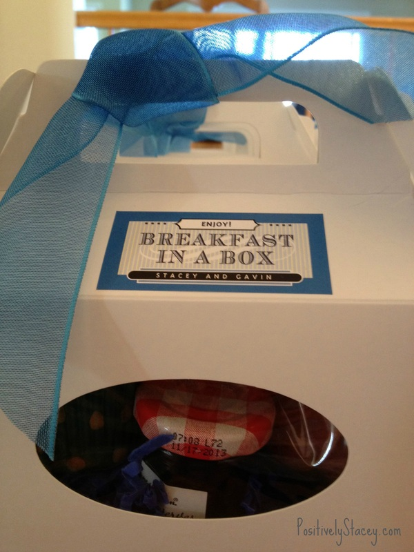 Breakfast in a Box – Our Wedding Favor