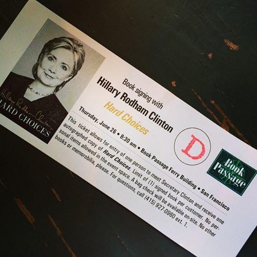 Clinton Book Signing