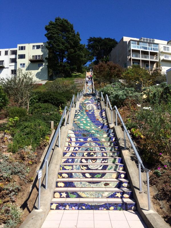 16th Avenue Tiled Steps in San Francisco