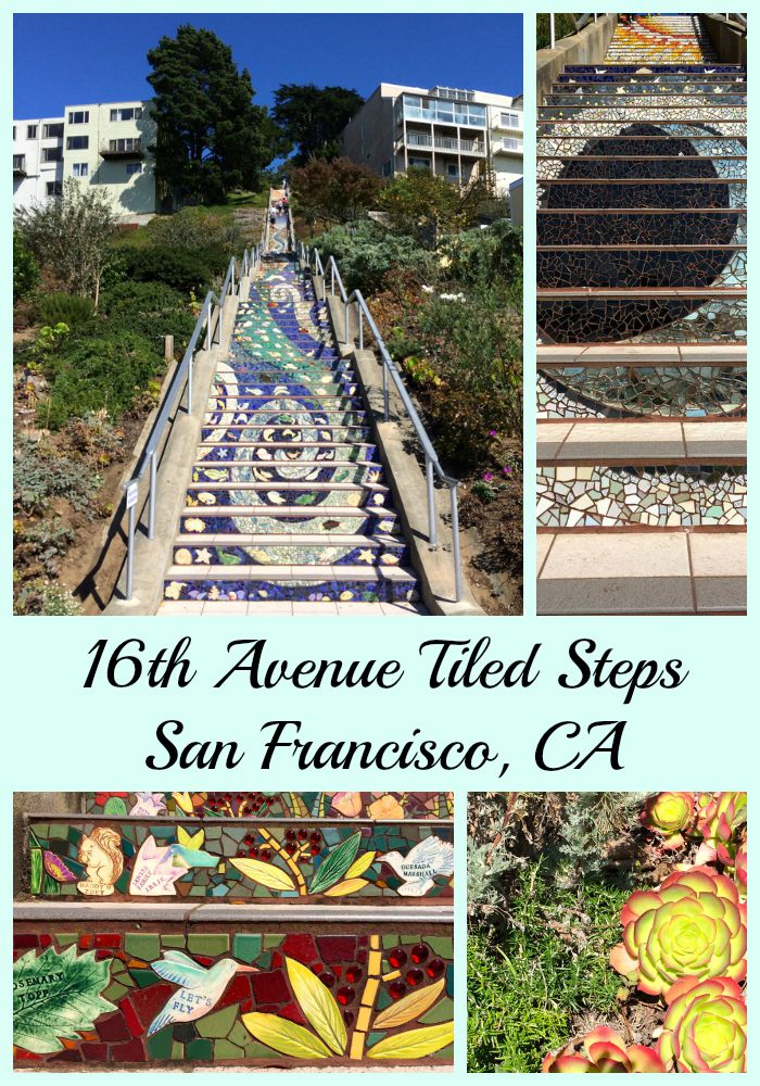 16th Avenue Tiled Steps in San Francisco is a beautiful piece of community art work! Be sure to visit it next time you are in San Francisco!