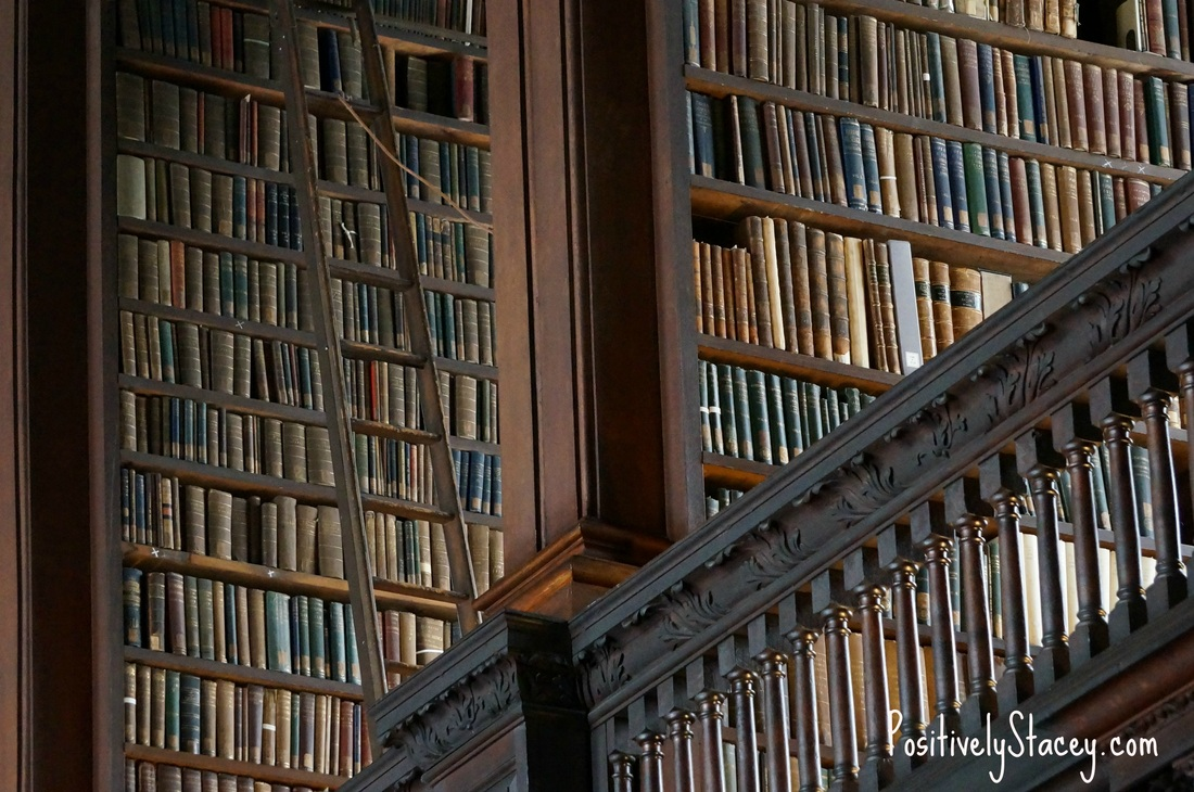 So many books in the library at Trinity College!