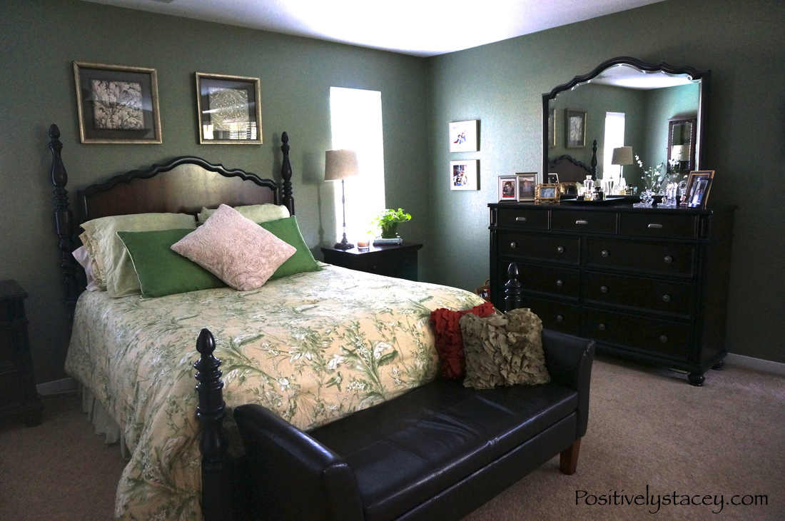 master bedroom green painting our master bedroom green positively stacey 12279