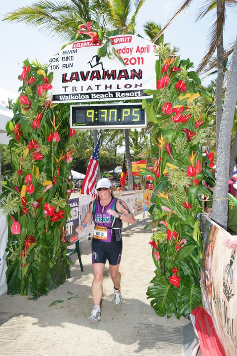 Lavaman Finish Line