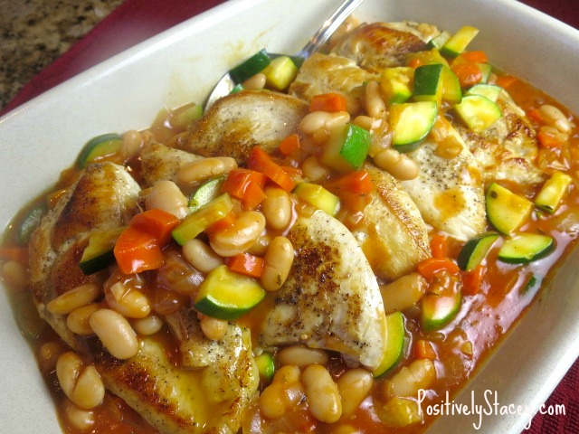 Chicken with White Bean and Vegetable Simmer Ellie Krieger