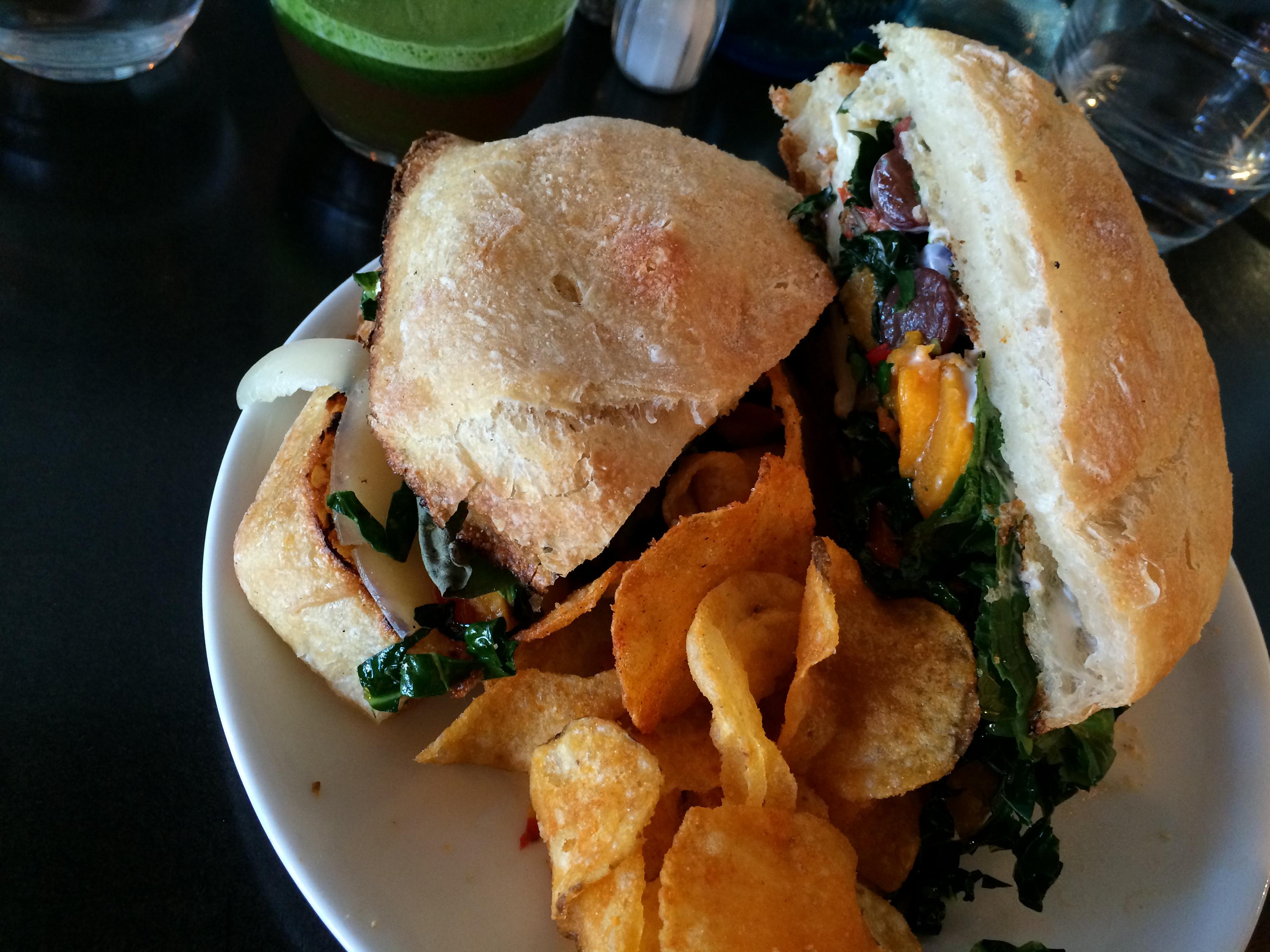 Butternut squash sandwich