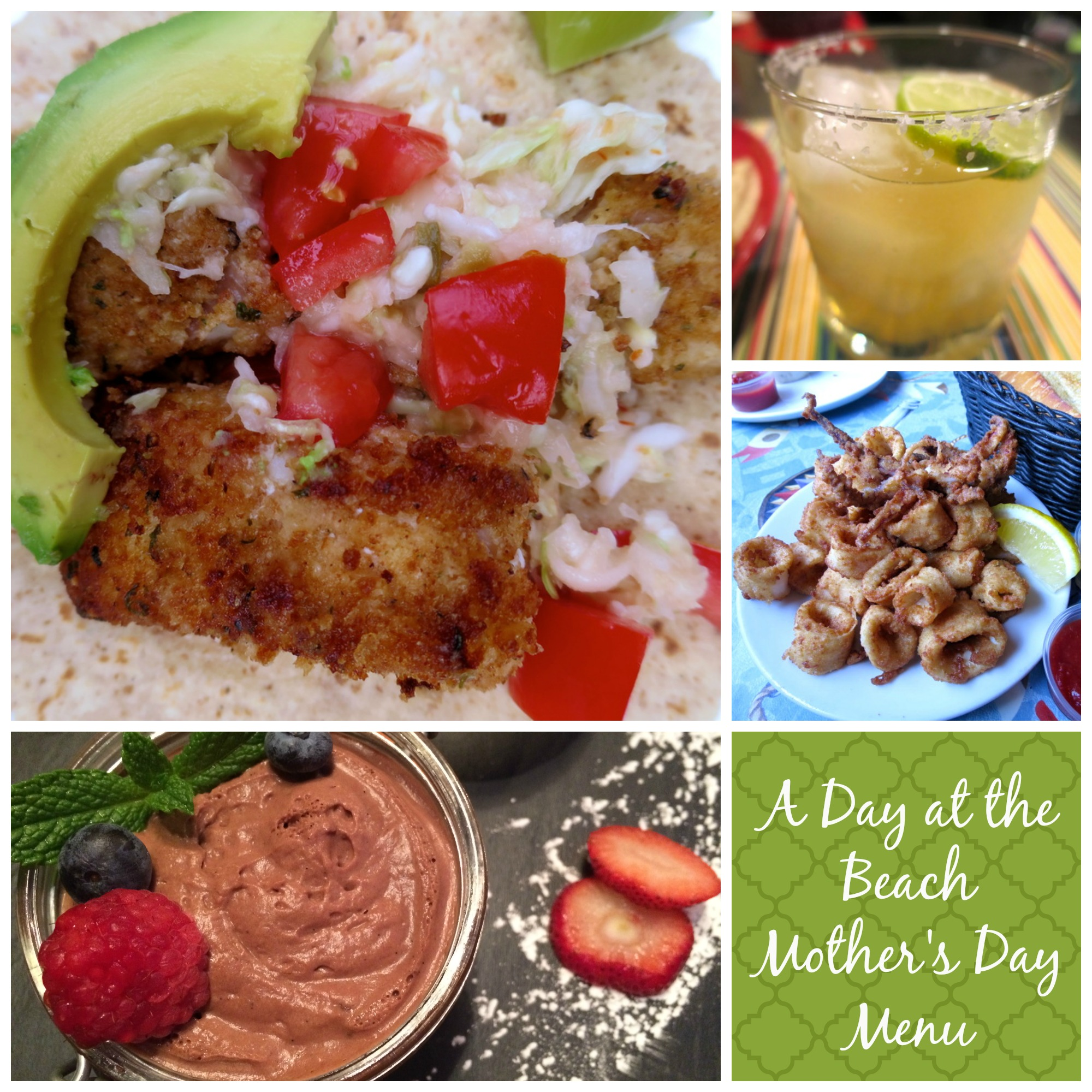 A Day at the Beach Mothers Day Menu