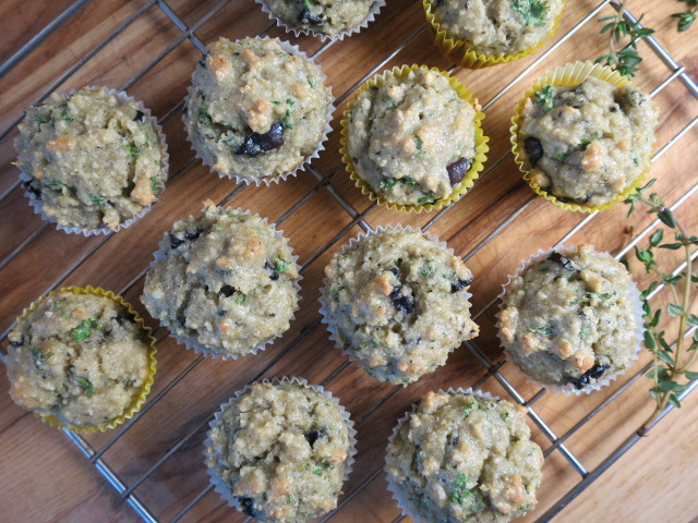 Olive, Lemon Zest, and Thyme Mini-Muffin Recipe