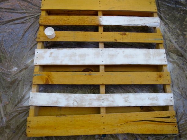 USA Flag from pallet