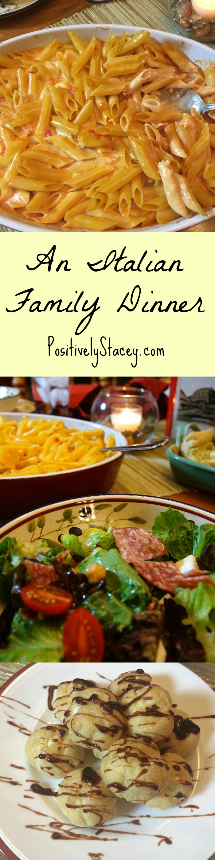 An absolutely delicious Italian Family Dinner Menu - perfect for family and company! Yum!