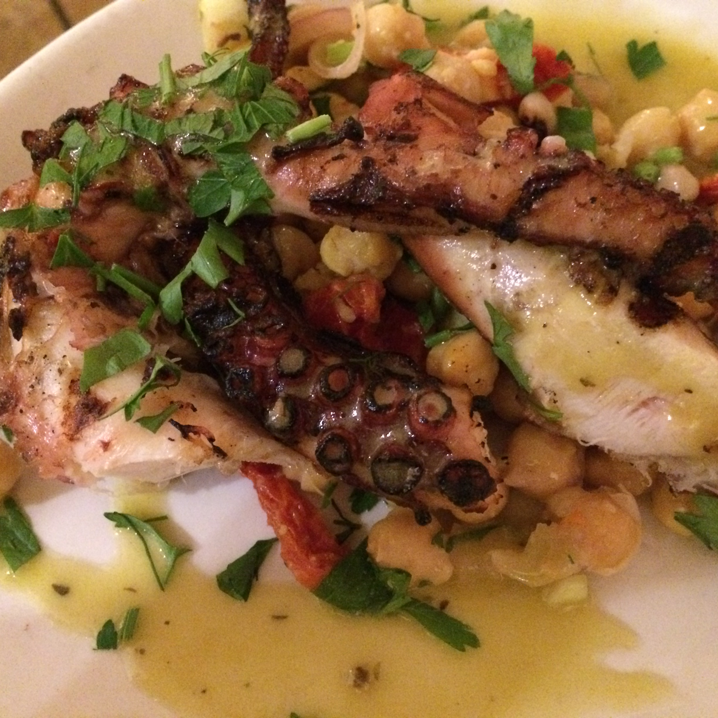 Grilled Octopus and bean salad - Kefi
