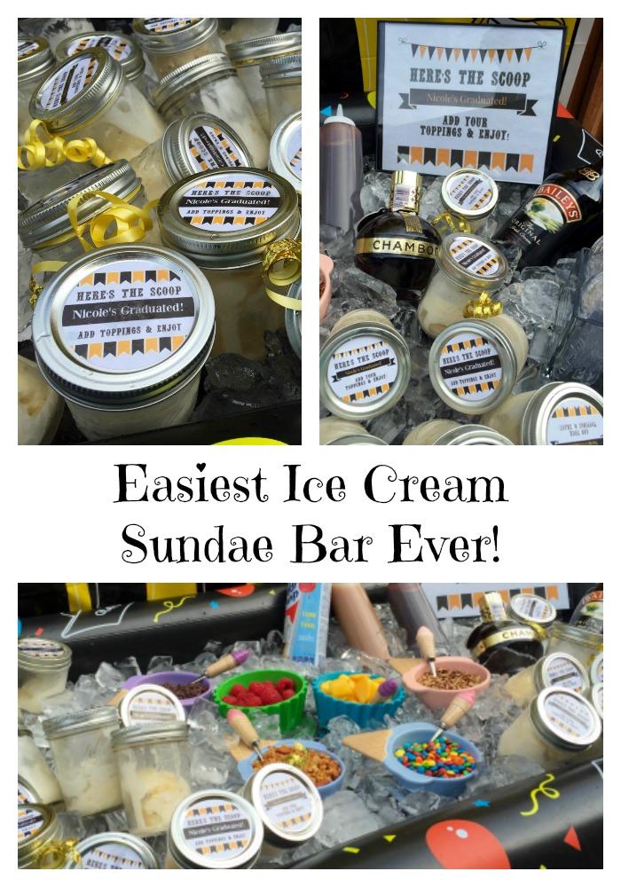 Easiest Ice Cream Sundae Bar Ever!