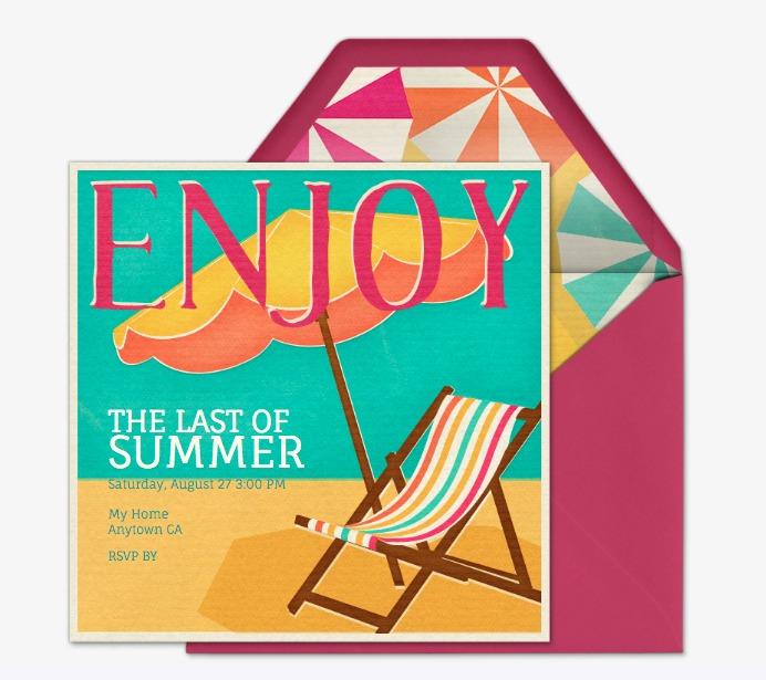 The Last of Summer Evite