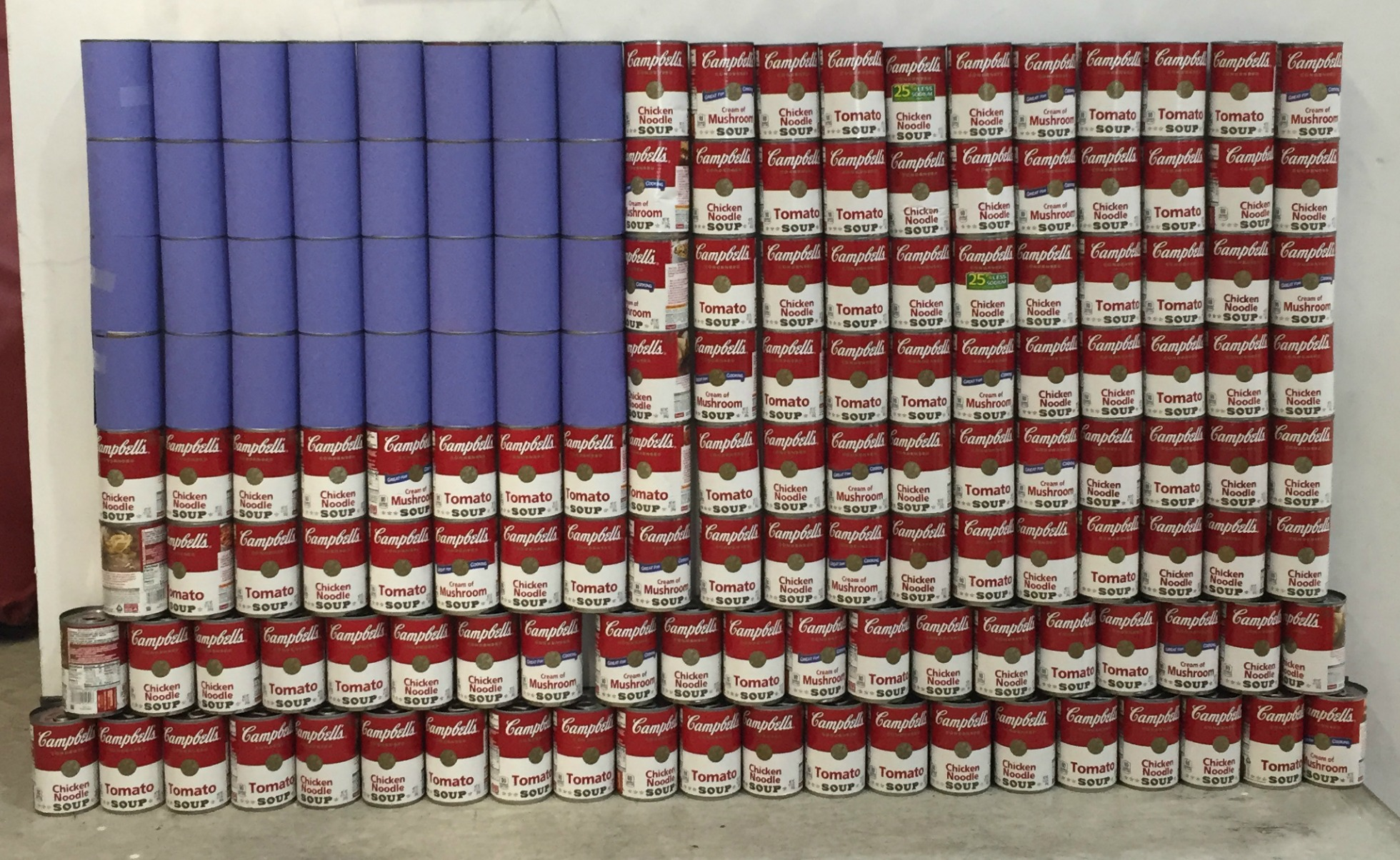 A Campbell Soup American Flag