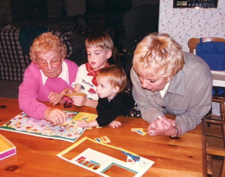 kids playing puzzle