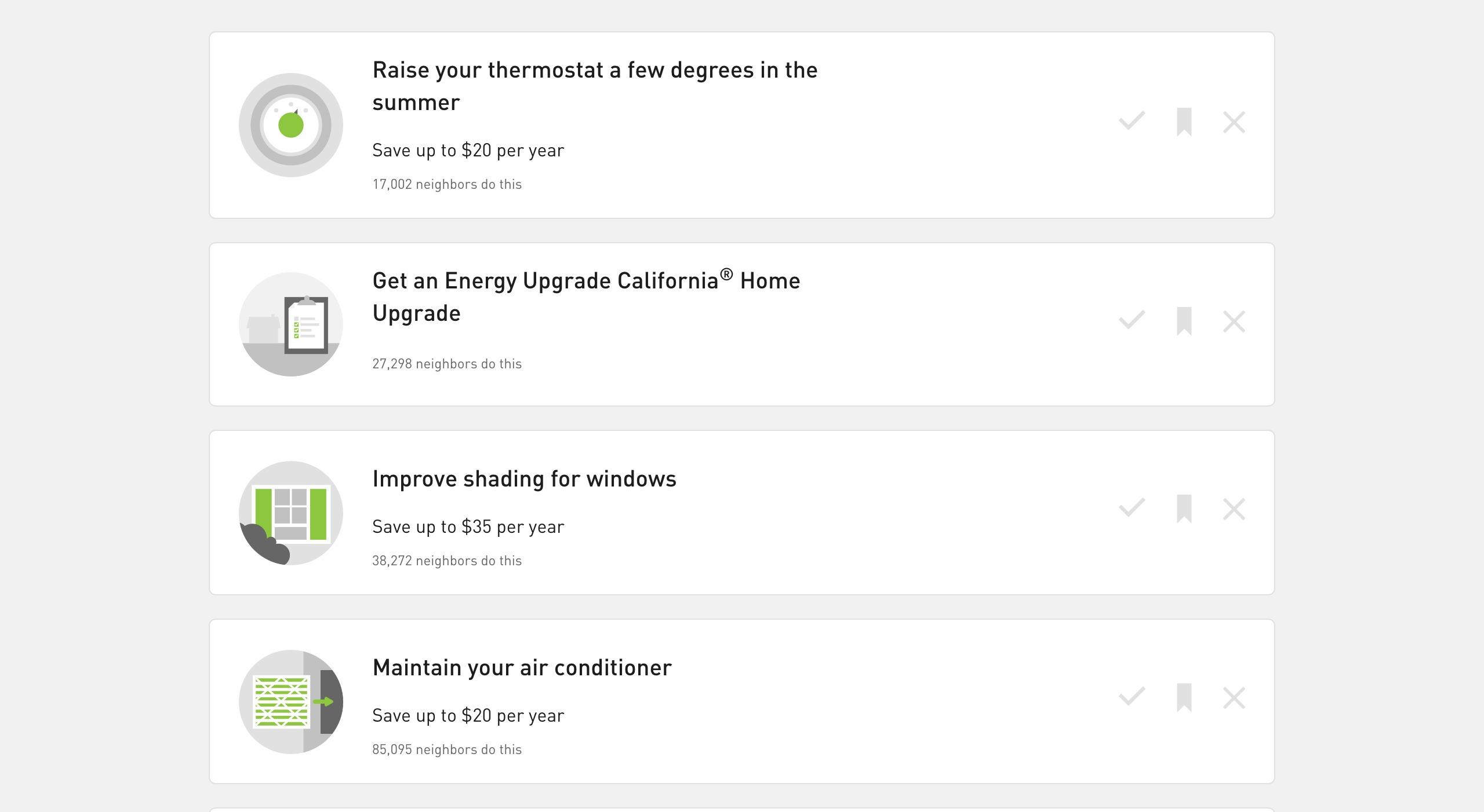 PG&E's Home Energy Checkup Tips