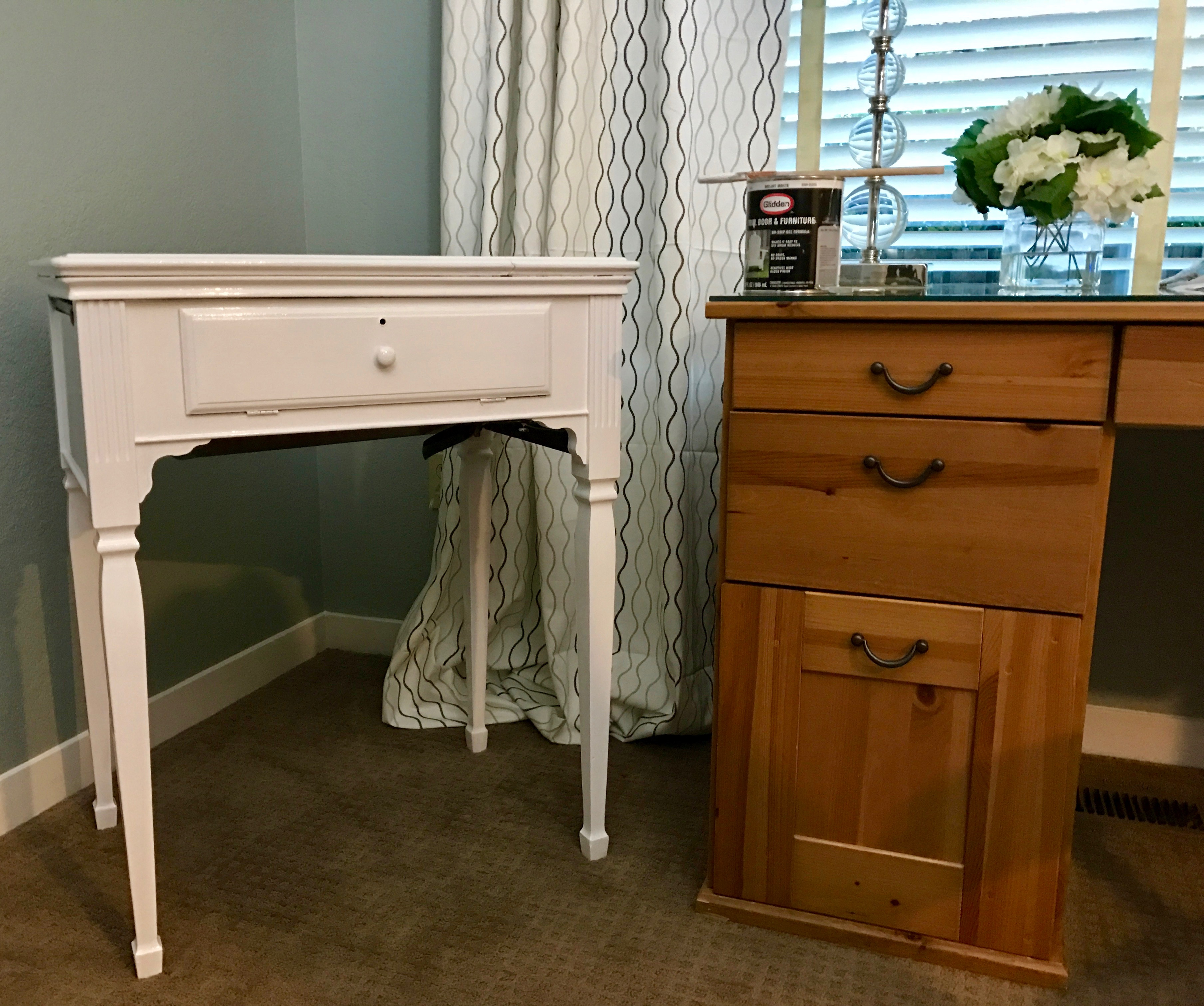 ORC: The Home Office Guest Room Week 5 – Painting the Sewing Cabinet