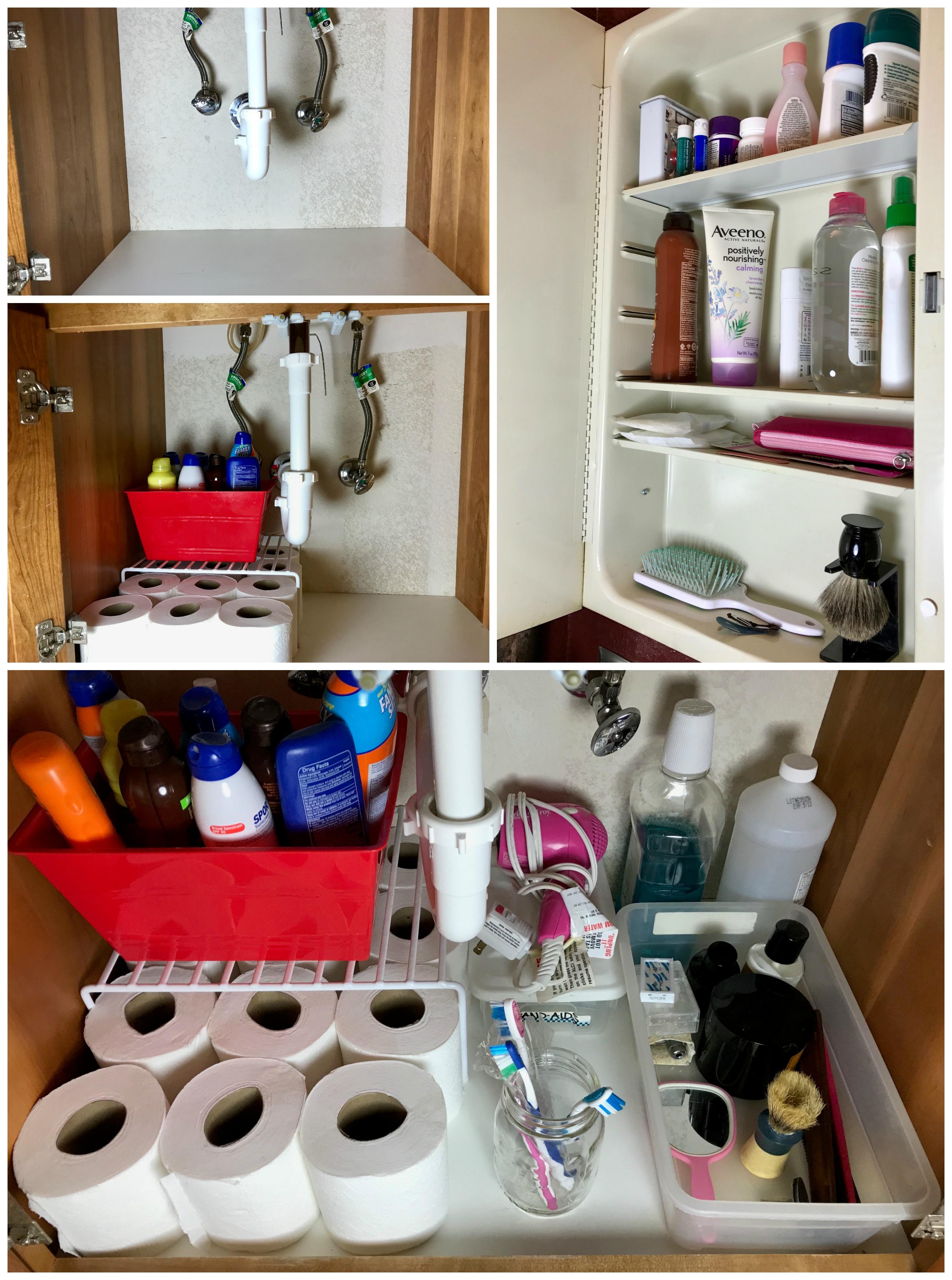 bathroom reorganization